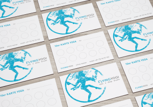 FLYING YOGI Logo and Point Card
