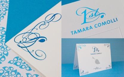 TAMARA COMOLLI Invitation // designed for www.aignerboettcherdesign.de